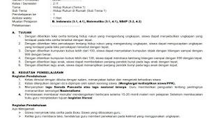 Contoh RPP K-13 SD 1 Lembar Sesuai Arahan Mendikbud