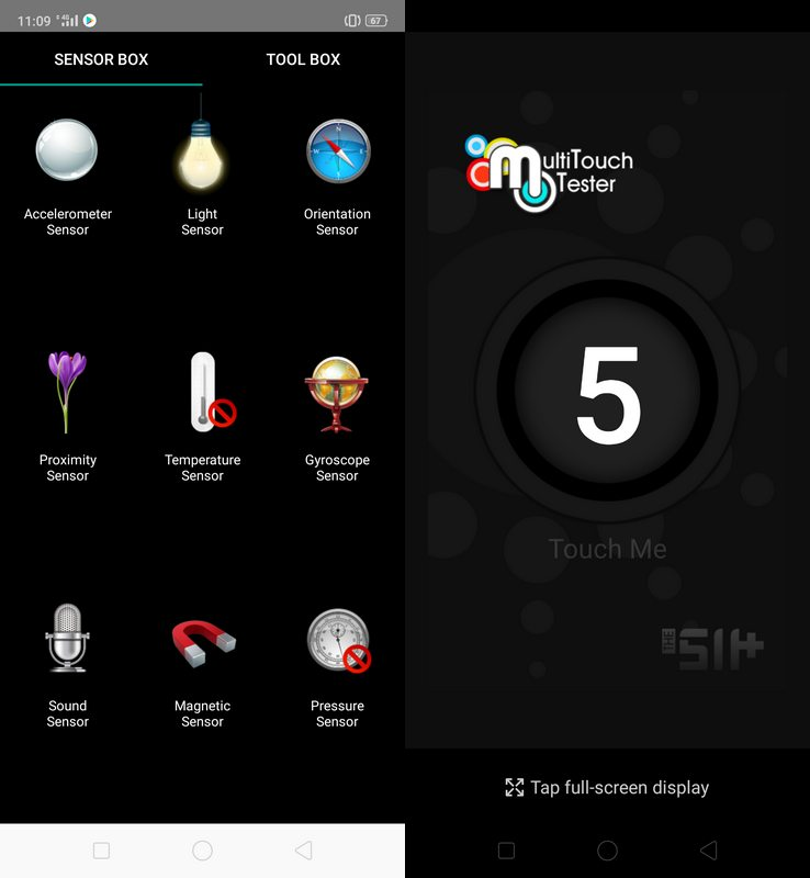 Sensorbox For Android & Multitouch Tester Realme 3 Pro