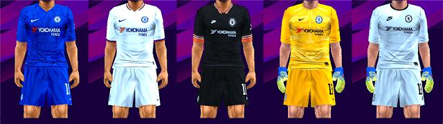 Chelsea FC Season 2019-2020 Kits PES PSP For Emulator PPSSPP