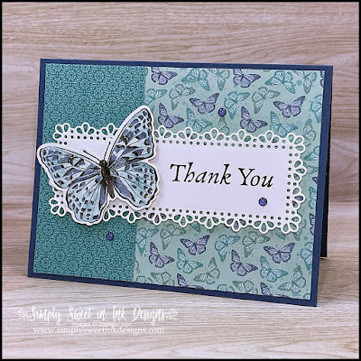 Beautiful and simple Butterfly Brilliance card