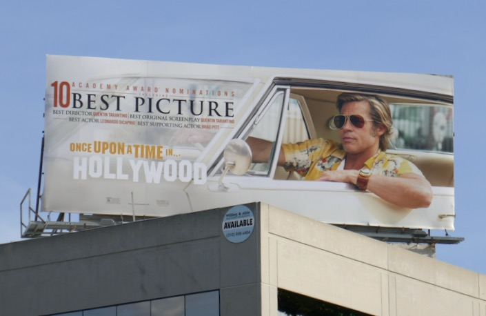 Once Upon a Time in Hollywood Oscar nominee billboard