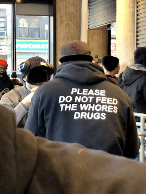 Please Do Not Feed The Whores Drugs hoodie. PYGear.com