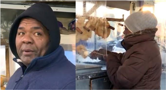 Madre dominicana y su hijo vendedores ambulantes en el Alto Manhattan asfixiados por la crisis económica del coronavirus