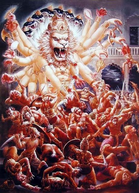 Lord Narasimha at war