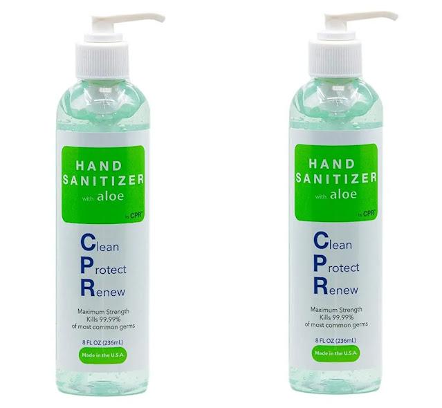 9- Hand Sanitizer Gel with Infused Aloe Vera Gel