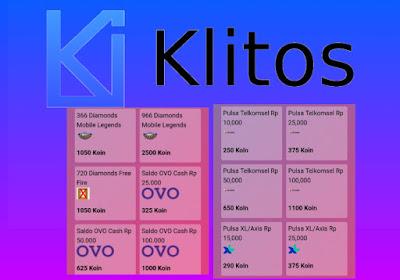 Aplikasi Klitos Penghasil Pulsa Ovo, Diamond ML, Free Fire dan Gopay Terbaru 2019