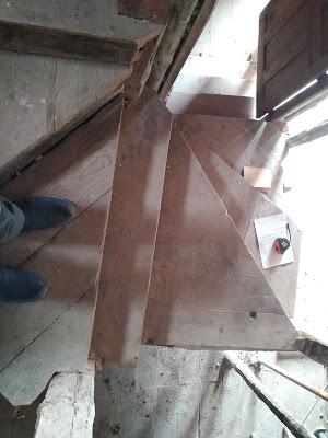 detalle de rehabilitación de vivienda escalera