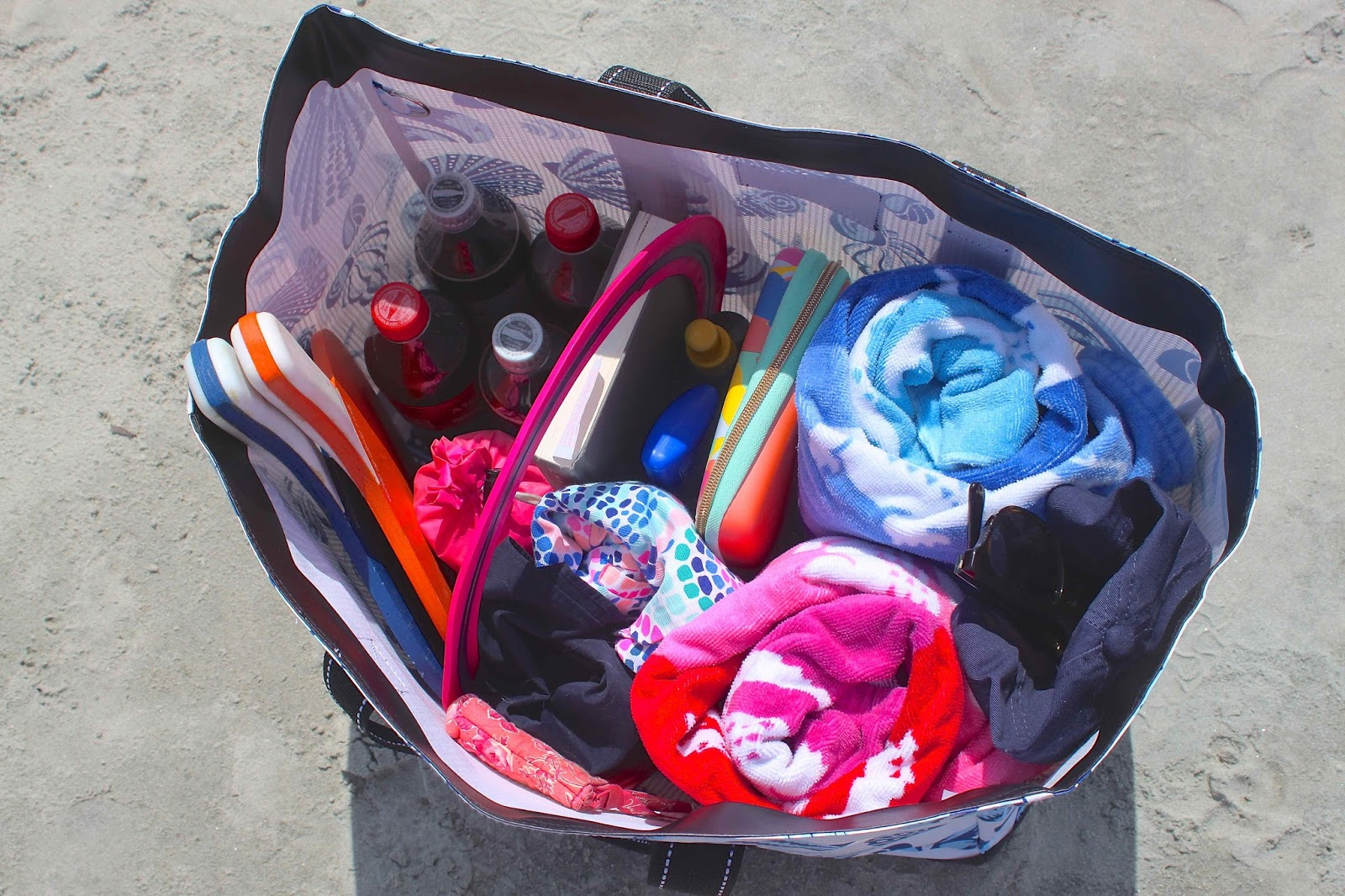 borrowed heaven: Top Ten Beach Bag Essentials