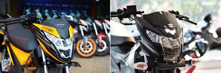 Mua xe côn tay 150 cc - chọn Suzuki Satria chính hãng hay Honda Sonic?