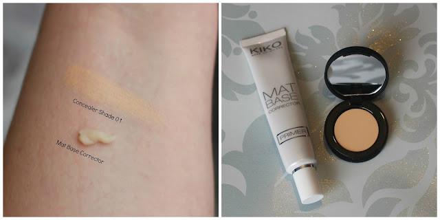 Kiko Cosmetics Mat Base Corrector and Full Coverage Concealer