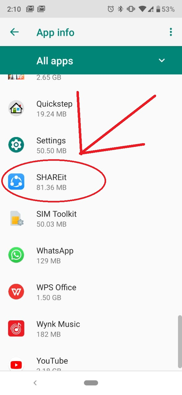 HOW TO REMOVE THE  NOTIFICATION FROM SHARE IT
