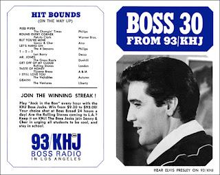KHJ Boss 30 No. 11 - Elvis Presley