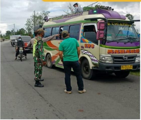 Pelaksanaan Operasi Yustisi Turut Serta Dilakukan Personel Jajaran Kodim 0207/Simalungun