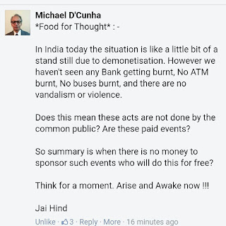 Nice Thoughts for Demonetization in India