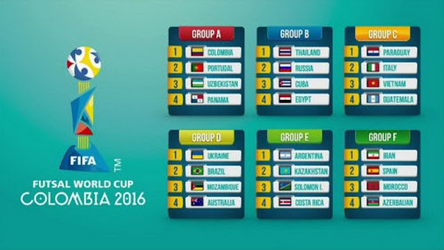 FIFA Futsal World Cup 2016 Groups