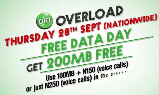 Glo Declares Thursday September 28 A Free Data Day