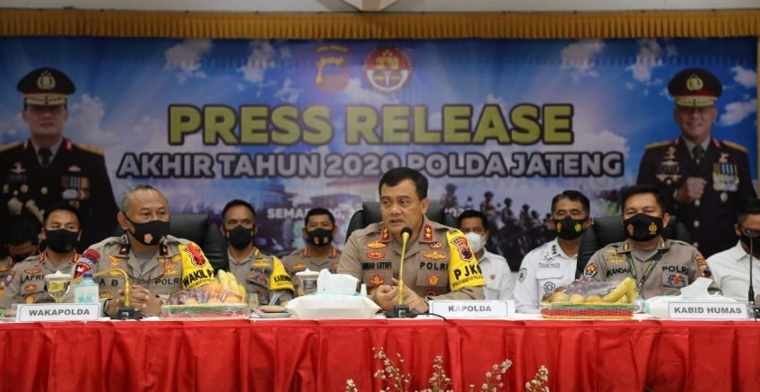 Selama Pandemik Tingkat Kejahatan di Jawa Tengah Turun