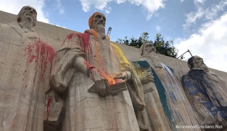 Monumento de la Reforma Protestante vandalizado