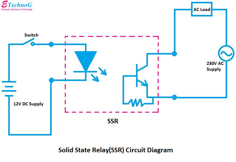 Solid State Relay(SSR) Circuit Diagram, circuit diagram of SSR