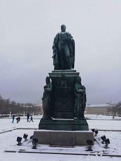Дворцовая площадь, Карлсруэ: памятник Карлу Фридриху фон Бадену
