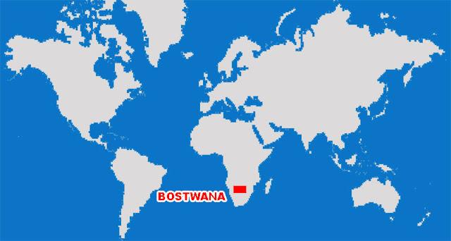 Gambar Peta Letak Negara Botswana