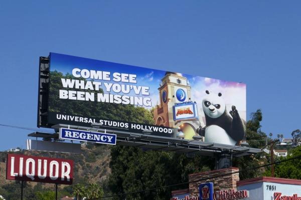 Universal Studios Kung Fu Panda billboard