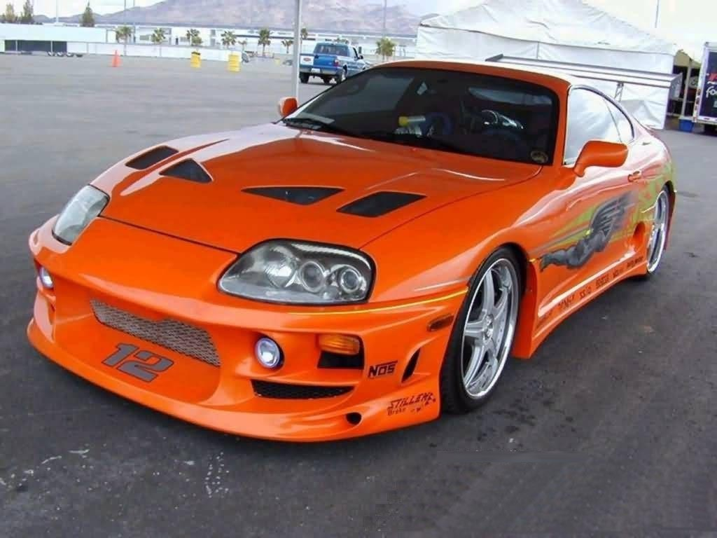 Toyota Supra Orange Car