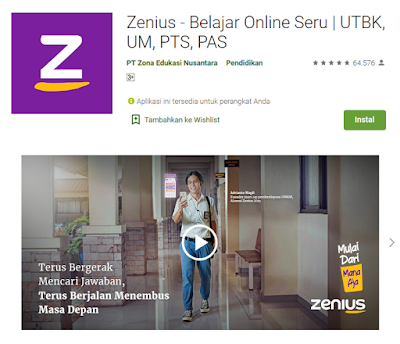 Download Aplikasi Zenius