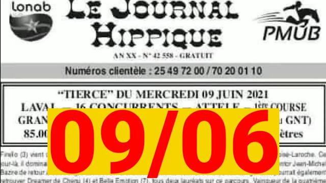 programme quinté Pronostic Mercredi 09/06/2021