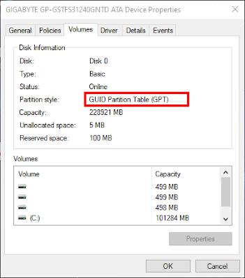 Guild Partition Table Check