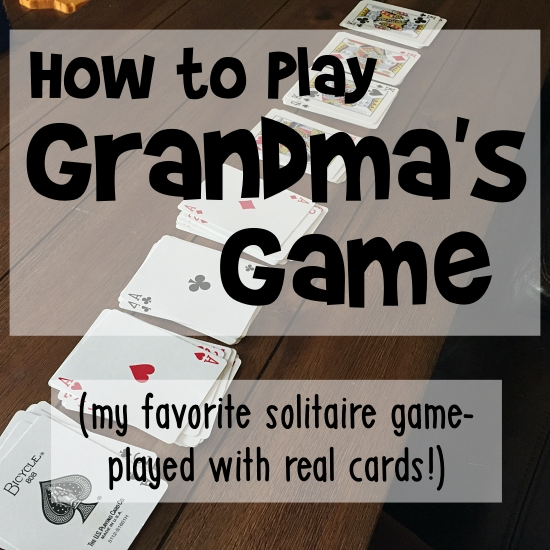 grandmas game solitaire