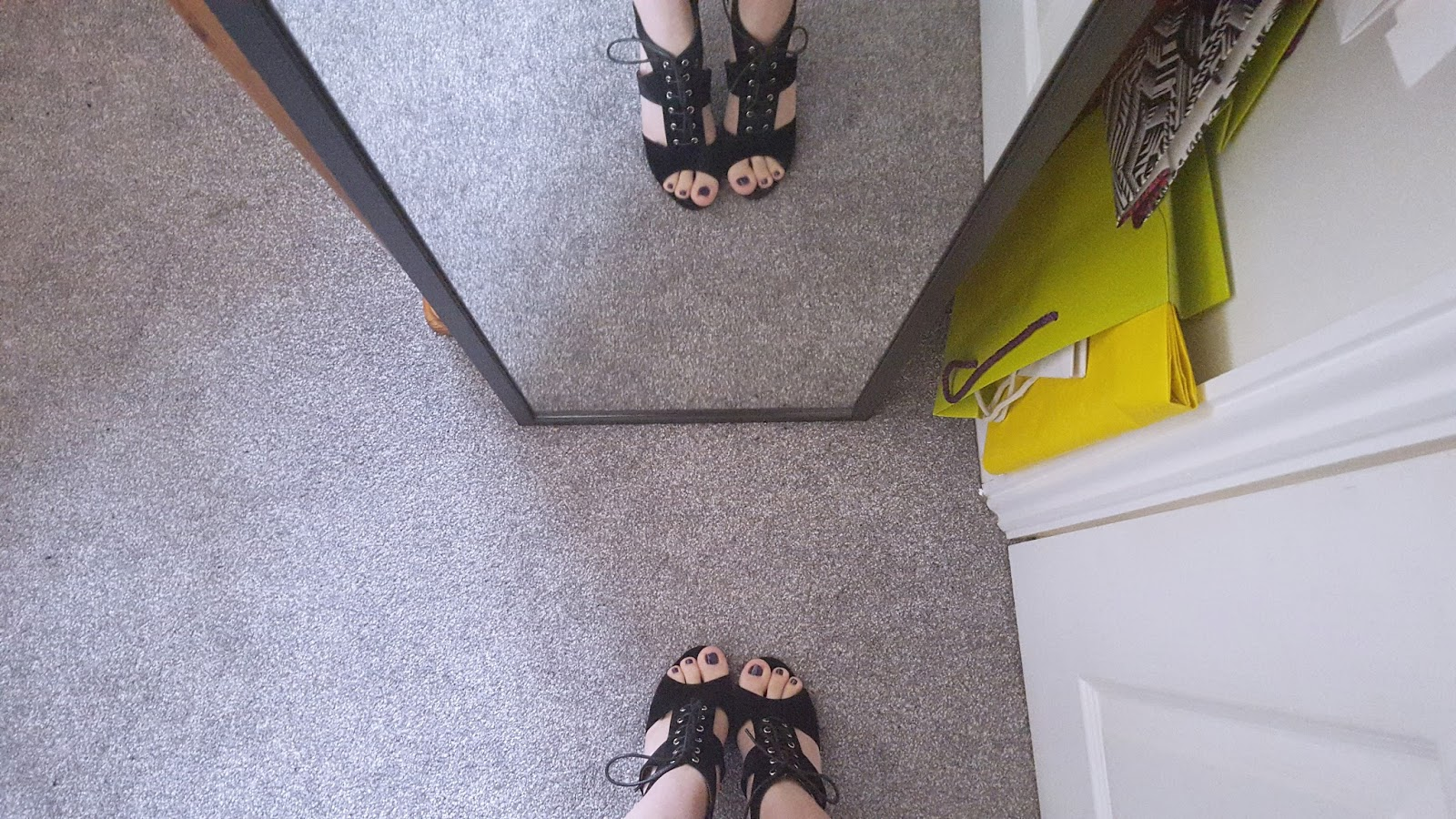 Online Avenue Ivette Cut Out Lace Up Heels