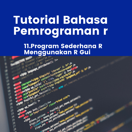 Program Sederhana R Menggunakan R Gui