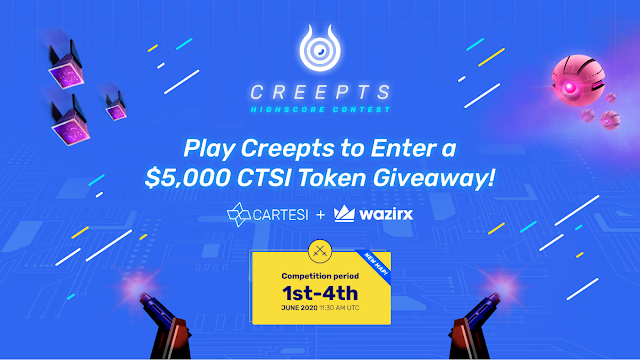 Play Game And Get 5000 CTSI Token on Wazirx