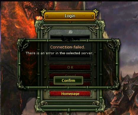 Knight Online There is an error in the selected server.