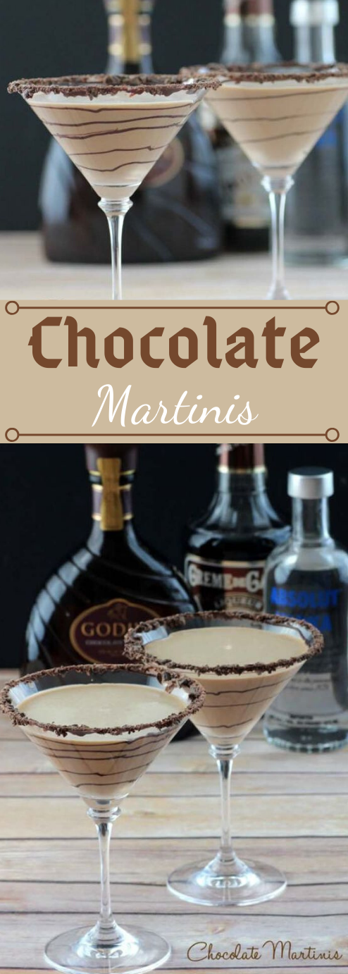 CHOCOLATE MARTINIS #chocolate #martinis #drink #party #cocktail