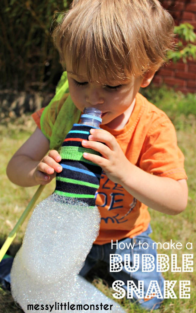 How to make a bubble snake blower for kids