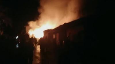Sejumlah Bangunan di Ponpes Ar-Risalah Ludes Dilalap Api