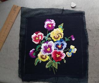iron on interfacing on embroidery fleece cushion cover craftrebella