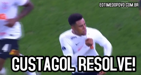 b5ce3a9eef8 Gustagol salva e Corinthians empata com o Racing-ARG na Arena ...