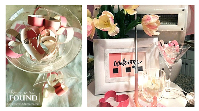 paper valentines day heart decor, paint chip decor, paint theme party, pink, valentines day, hearts, home decor, diy home decor, paper crafts, pink party decor