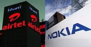 भारती एयरटेल ने नोकिया के साथ नौ सर्किलों में 4 जी नेटवर्क समाधान तैनात करने के लिए 7,500 करोड़ रुपये का सौदा किया है
