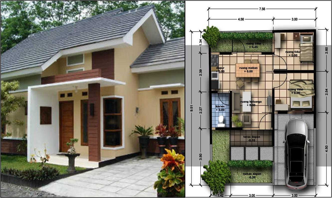 Contoh Denah Rumah Minimalis 3 Kamar 1 Lantai In House Design