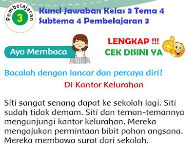 Kunci Jawaban Kelas 3 Tema 4 Subtema 4 Pembelajaran 3 www.simplenews.me