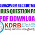 KERALA DEVASWOM RECRUITMENT BOARD PREVIOUS QUESTION PAPERS (VARIOUS) FREE DOWN LOAD