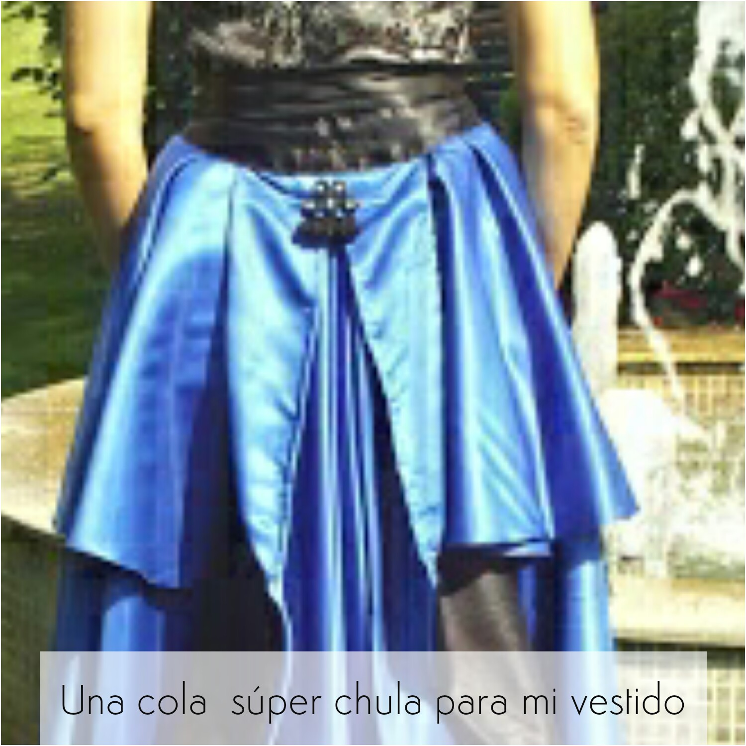 DT1Pc Blog by Nerea SH: UNA COLA DE EMERGENCIA PARA MI VESTIDO