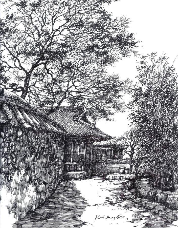 06-Quiet-village-scene-sketch_forum-www-designstack-co