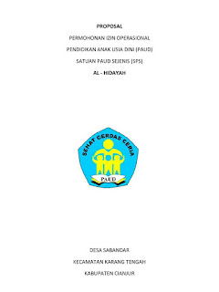 Contoh Proposal Pendirian PAUD/ TK 2017