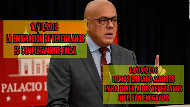 Jorge Rodríguez dice que es falsa la emigración de venezolanos hacia Ecuador y Perú