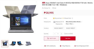 Asus X542UF Intel Core I5 8250U